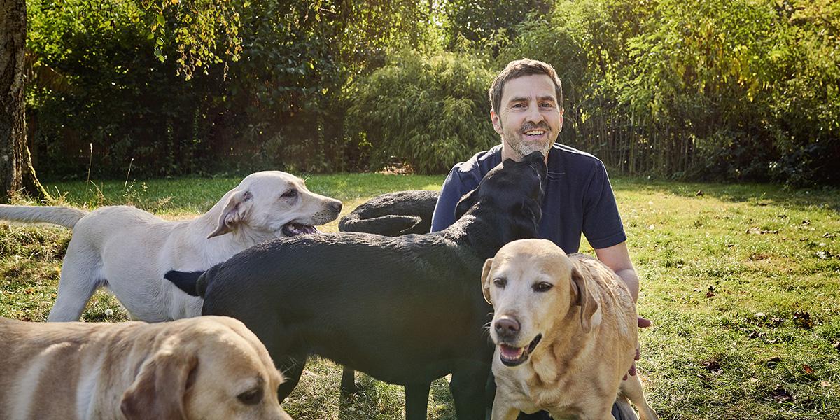 Meine Hunde und ich, Labrador Züchter und seine Hunde